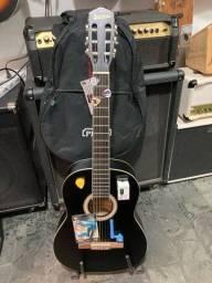 Kit de violão de nylon+capa+afinador+Capotraste+manivela
