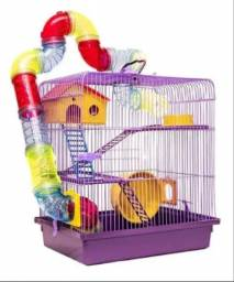 Título do anúncio: Gaiola para hamster 3 andares de luxo