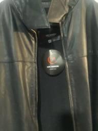 Jaqueta em couro Luis Manoel