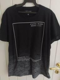 Camisetas Estampadas Pretas