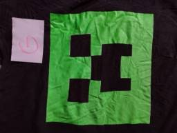 camisas de games usadas * mine craft e PlayStation