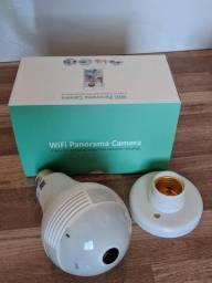 Título do anúncio: Lâmpada Câmera segurança Ip Wifi Hd Panoramica 360 (aceito cartão)