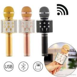 Título do anúncio: Microfone Karaokê Portátil C/ Bluetooth E Controle Mixer !!!