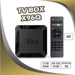 Título do anúncio: Tv Box X96q Allwinner H313 4k 2gb/64gb Android 10 Wifi 2.4g