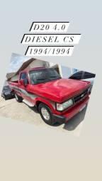 Título do anúncio: D20 4.0 diesel cs 1994