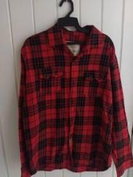 Camisa flanela vermelha