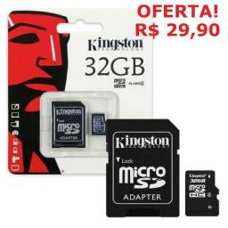 Cartão de Memória 32gb Kingston Original Lacrado Apenas 29,90! Garantia! Promoção!!!