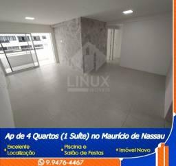 Apartamento de 98 m², com 04 quartos à Venda no Maurício de Nassau