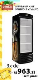 Cervejeira 432 litros porta de vidro