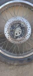 Roda traseira da crosser freio a disco