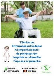 Título do anúncio: Técnico de Enfermagem/Cuidador
