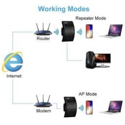 Título do anúncio: Repetidor De Sinal Amplificador Wireless Wifi 300mbps (entrega gratis)<br><br>