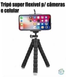Tripé super flexível para celular e câmeras