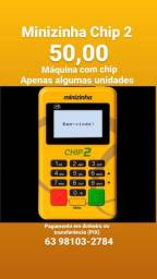 PagSeguro minizinha Chip 2 por 50,00 ( Retirada, não entrego)