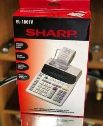 Calculadora com Impressora Sharp EL-1801V com Suporte para Papel 120V ~ 60Hz - Branca