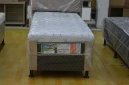 Cama box solteiro com 10 cm espuma- Novo