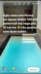 Ágio casa de luxo águas lindas com Picinna três quartos com duas suítes individual