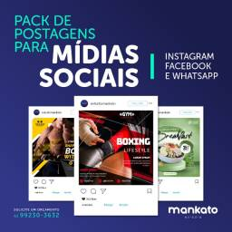 Gerenciamento  e conteúdo para de redes sociais, postagens, design gráfico, publicidade