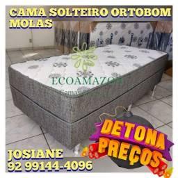 Título do anúncio: CAMA BOX SOLTEIRO *** ORTOBOM MOLAS