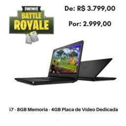Notebook Dell Gamer i7-5550U 8GB Memória Placa De Video 4GB Nvidia dedicada