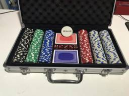 Maleta de Poker: 298 fichas 2 Baralhos