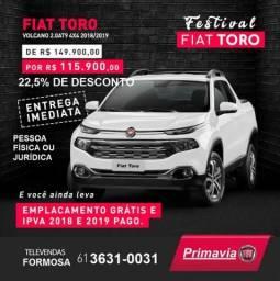 FIAT TORO 2.0 16V TURBO DIESEL VOLCANO 4WD AUTOMÁTICO - 2019