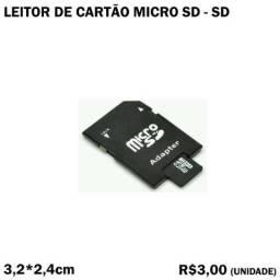 Leitor de Cartão Micro SD para SD