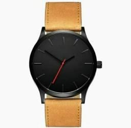 Relógio de pulso esportivo aço inoxidável pulseira de couro analógico novo 2bb975811f