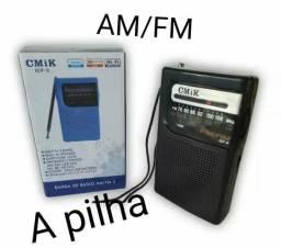 Radinho de bolso AM/FM Original.Novo grátis Pilhas