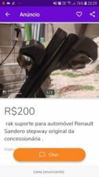 Rak suporte para automóvel Sandero Stpowey original da Concessionária bem pouco uso