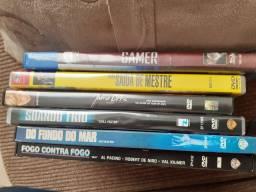 6 dvds e 2 bluray originais  usados