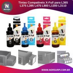 Tinta X-Full Ultra para Epson L365 L375 L395 L475 L800 L3110 - 4 x 100ml