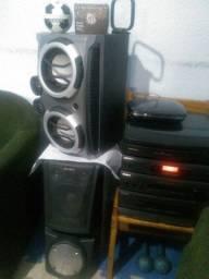 SONY(CD/TAPE/RADIO AM/FM/T.DISCOS/CONECTE SEU CELULAR (CABO P2) OUÇA TDS SUAS MÚSICAS!