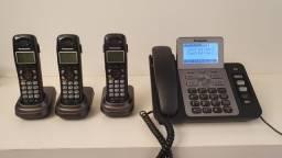 Telefone sem fio Panasonic 2 linhas KX-TG9471