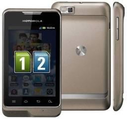 Kit 2 Celulares Motorola Xt390 Motosmart 2 Chips Android 3g/ Paracatu-MG