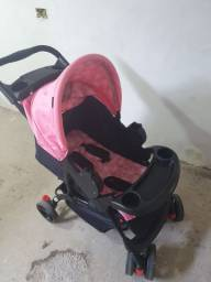 Bebê conforto  e Carrinho de bebê para menina