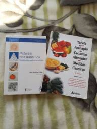 Livro Pirâmide dos Alimentos e livro Tabela para Avaliação de Consumo Alimentar