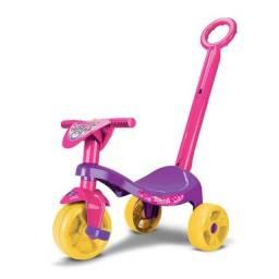 Motoca Triciclo com empurrador - Rosa/Azul