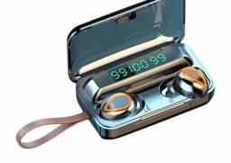 Fone bluetooth novo com carregador e acessórios a bateria com duração de 5 a 6 horas