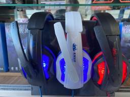 Headset Gamer Fone Led Knup Ps4 Xbox One Smartphone Kp-396-(Lojas Wiki)