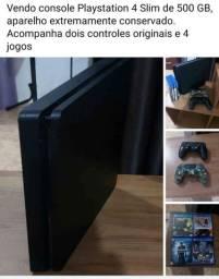 Título do anúncio: Playstation 4 (super conservado)