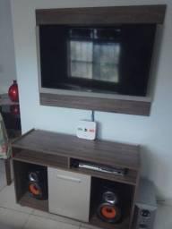 Painel de tv com rack completo .