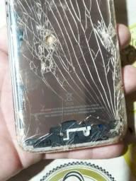 Título do anúncio: celular s7 flat sm-g930f quebrado para retirada de peças