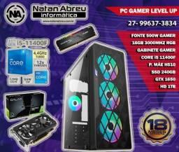 PC Gamer Intel 11ª Geração Core i5 11400F + GTX 1650 + 16gb + SSD + HD - Loja Natan Abreu