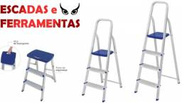 Título do anúncio: Escadas de Alumínio, temos vários tamanhos a partir de R$ 139,00