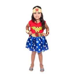 Título do anúncio: Fantasia Mulher Maravilha Infantil Com Acessórios Pronta Entrega