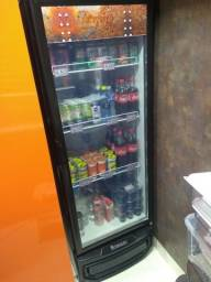 Refrigerador Expositor Vertical Frost Free 414L Preta Profissional Gelopar 220V