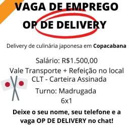 Operador de Delivery - Madrugada