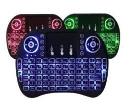Mini Teclado Keyboard Sem Fio Wireless Iluminado Luz Led
