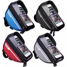 Bolsa de Guidão B-Soul para celulares até 7? Bicicleta